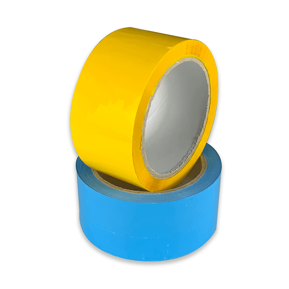 coloured tape blue and yellow