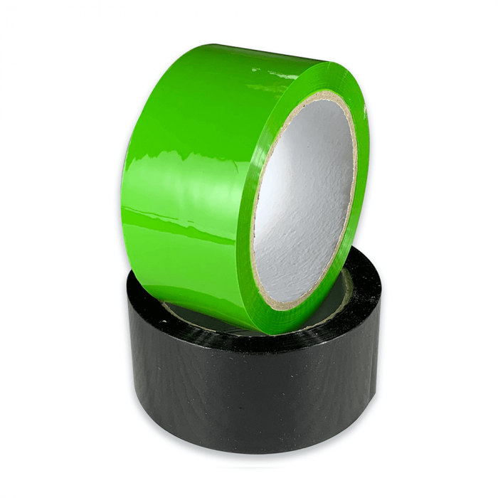coloured tape green and black