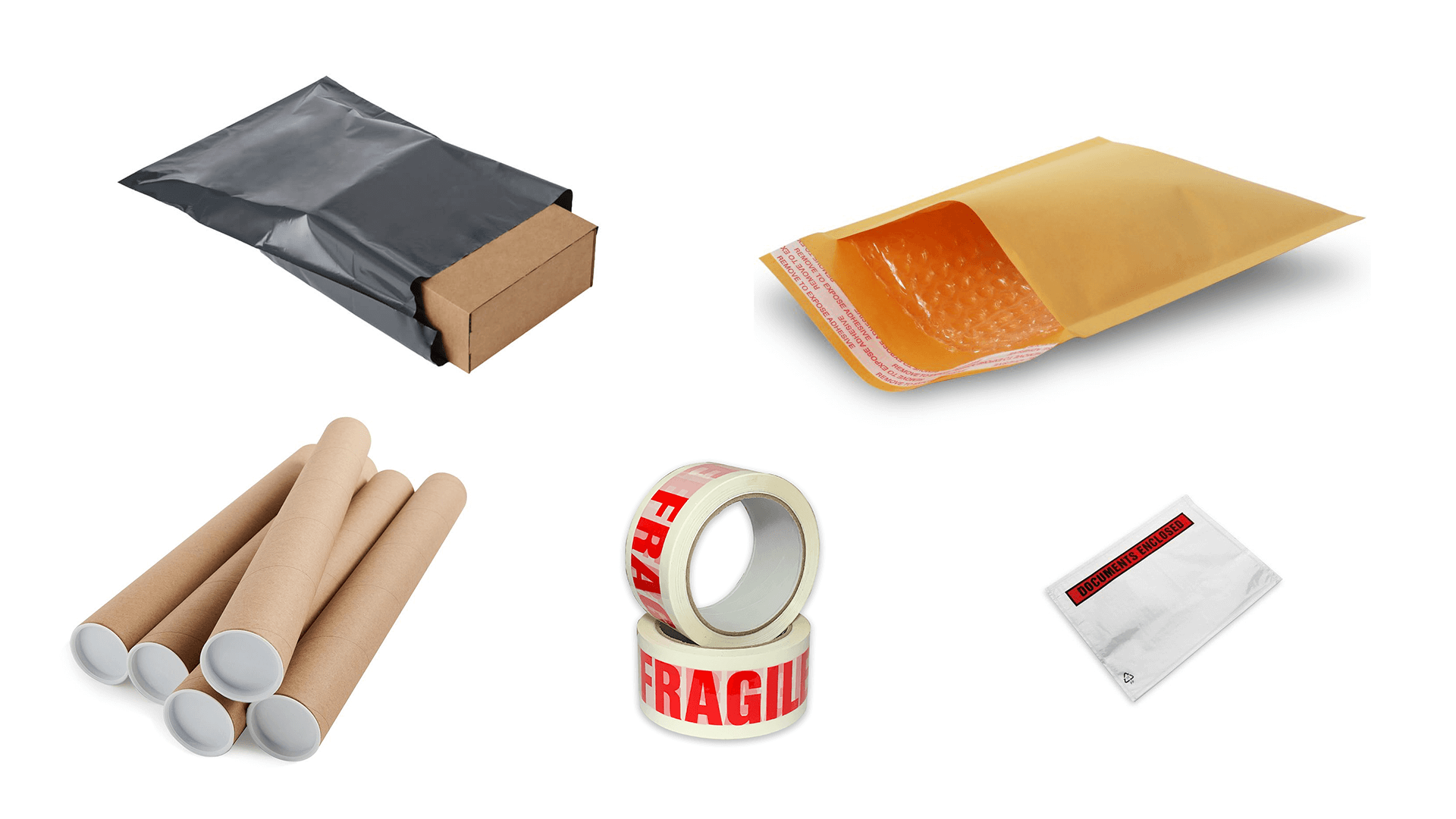 ecommerce packaging collage